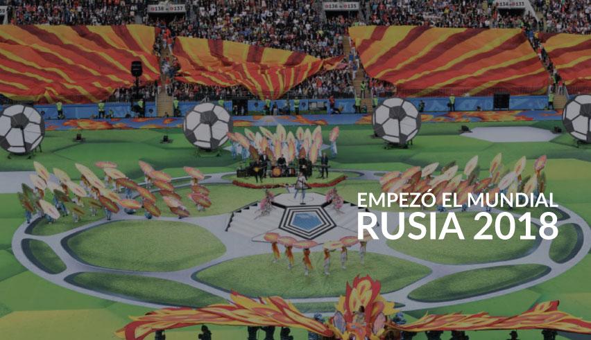 La inauguración del Mundial Rusia 2018