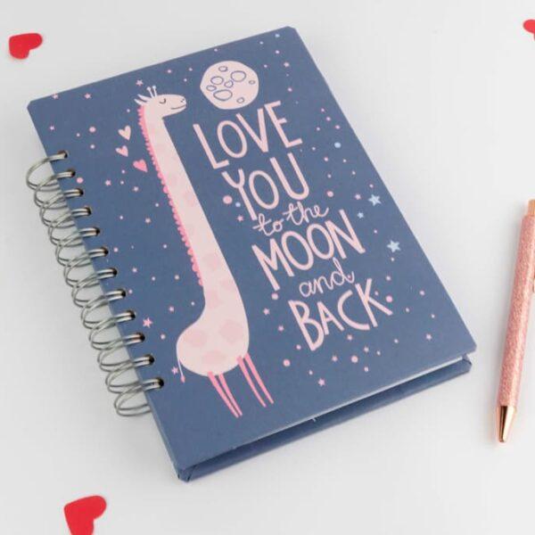 Agendas y cuadernos «A la Luna ida y vuelta» · Andariega Store 2021