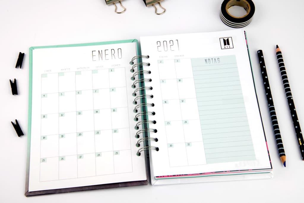 Agendas y cuadernos K-POP BTS Andariega Store 2021